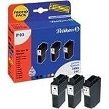 Pelikan Promo Pack P03, ersetzt Canon 2x BCI-24BK, 1x BCI-24C, schwarz, dreifarbig