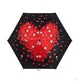 WFYJY Ultraleicht-Super Automatische Regenschirm bivalente Solar-Schirm Schwarze klebstoff UV-Schutz Sonnenschirm.Ein