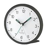 Wetterladen TFA Dostmann 60.1506 Lautloser Analoger Funkwecker mit Sweep-Uhrwerk (Titan)