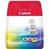 Canon S 535 PD (BCI-3 E / 4480 A 262) - original - 3 x Tintenpatrone MultiPack (cyan, magenta, gelb) - 500 Seiten