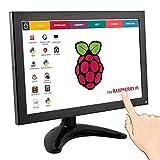 ELECROW 10.1 Zoll IPS Monitor Kleine Tragbare 1280x800 Auflösung TFT LCD VOLL HD Touch-Function Bildschirm, HDMI  VGA  USB-Eingang und eingebaute Lautsprecher für Himbeere Raspberry Pi 3B 2B B