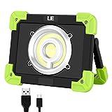 LE 20W aufladebare Arbeitslampe, Campinglampe COB LED wasserfest IPX4, Powerbank Scheinwerfer, Flutlicht Scheinwerfer, Warnlicht, Notfalllampe, Reparaturlampe, tragbares Flutlicht, 3 Lichtmodi, 1700lm