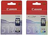 Canon PGI-512 BK/CL 513 Tintenpatronen, 2er Pack (schwarz/farbig)
