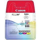 Canon Original CLI-521 MultiPack Cyan, Magenta, Yellow