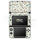Nintendo 3 DS XL Case Skin Sticker aus Vinyl-Folie Aufkleber Dreiecke Vintage Muster Pastell
