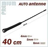 KFZ 40cm Antennenstab Universal INION® Stab Auto Antenne mit M4 M5 M6 Gewinde - Radio UKW / FM - Dachantenne