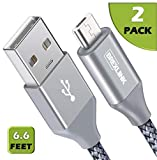 Micro USB Kabel [2 Pack, 2m], BrexLink Micro USB auf USB 2.0 Nylon Geflochtenes Sync- und...