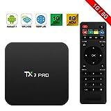primeelectronics TX3Pro Android 6.0TV Box Marshmallow S905X 1G/8G 4K H.26564bit DLNA Miracast Wifi LAN–Schwarz