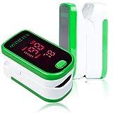 Finger-Pulsoximeter, digitales Blutsauerstoff- und Pulsmessgerät mit Alarm - SPO2 - für Erwachsene, Kinder, für Sport - TempIR für Zuverlässigkeit und ausgezeichnete Kundenbetreuung