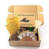 ANISTA - Chili Anzuchtset - Züchte Deine eigenen Chilis. 5 Sorten Chili Samen in unserem kompletten Pflanzset. Schöne Geschenkidee zu Geburtstag Ostern oder Weihnachten