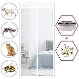 GOUDU Fliegengitter Tür Magnetisch, Magnetvorhang Tür, Insektenschutz, Full Frame Klettverschluss, für Balkontür Wohnzimmer Terrassentür
