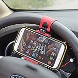MMOBIEL Universal Handy Lenkrad Lenker Halterung Clip Halter Befestigung Mount für Smartphone...
