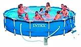 Intex Metal Frame Aufstellpool mit Pumpe,  blau, Ø 305 x 76 cm