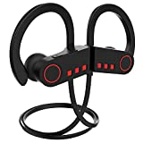 JETech Bluetooth Kopfhörer 4.1 Sport Drahtlose Stereo-Kopfhörer In Ear Kopfhörer mit IPX7 spritzwasserfest für iOS- und Android-Geräte usw (Schwarz)