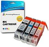 4 Druckerpatronen für Canon BJC-3000, BJC-6000, BJC-6100, BJC-6200, BJC-6500, BJI-6500, I550, I550X, I560, I560X, I6500, I850, iP3000, iP4000, iP4000R, iP5000, MP700, MP730, MP750, MP780, MPC100 MPC400, MPC600, MPC600F, MP-F50, MP-F60, MP-F80, C100, C150, C600, C600f, S400, S400X, S450, S4500, S500, S520, S530d, S600, S630, S6300, S750 | kompatibel zu BCI-3eBK, BCI-6C, BCI-6M, BCI-6Y