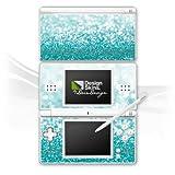 Nintendo DS Lite Case Skin Sticker aus Vinyl-Folie Aufkleber Glitzer Glanz Glitter