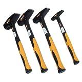 4 Hammer-Set 1,5 kg 500 g 200 g 100 g Schlosserhammer DIN 1041