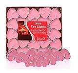 Ailiebhaus 50er Teelichter Set Romantische Hochzeit Herz Kerzen