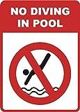 Kein Tauchen in Pool Zeichen 30,5x 45,7cm Schwimmen Warnschilder–2Pack