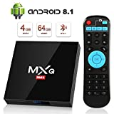 Android 8.1 TV Box 4GB+64GB superpow MXQ MAX Android Box Quad-Core mit BT4.1 3D / 2.4Ghz WiFi / 100...