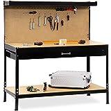 Werkbank Deuba® ✔ XXL 150x120x60cm ✔ Lochwand ✔ Profi Ausführung - Werkstatttisch Packtisch Werktisch Werkzeugwand