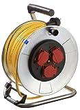 as - Schwabe 10344 Metall-Kabeltrommel  40m Leitung K35 IP44 Profi-Leitungsroller für Garten, Rasenmäher und Outdoor