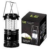 LE Campinglampe Batteriebetrieb Laterne IPX4 Wasserfest 30 hell LEDs Außenleuchte für Wandern Camping Notfall Ausfälle Nachtlicht Gartenlaterne
