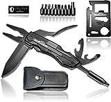 BERGGEIST Multi-Tool Survival Taschenmesser Set aus Edelstahl | Klappmesser & Zange | Inklusive EDC Kreditkartenmesser [2019]