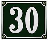 Buddel Bini Wetterfestes Emaille Hausnummernschild 30 12 x 14 cm, sofort lieferbar, grün