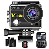 Action Cam JEEMAK WIFI Action Kamera 4K Camera mit 2.4G Fernbedienung 16MP Ultra Full HD Helmkamera...
