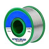 Fixget 1mm bleifreie Lötdraht, Tabiger Lötzinn mit Kolophonium Kern Sn97.3% Rosin2% Cu0.7% für elektrisches Löten 100g (bleifreie Lötdraht)
