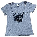 sunnymi Mode ★ Boy Short Sleeve ★T-Shirt/Sommer Herbst Kind Kind Kamera Tops O Ansatz (5-6 Jahre alt)