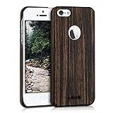 kalibri Holz Case Hülle für Apple iPhone SE / 5 / 5S - Handy Cover Schutzhülle aus Echt-Holz und...