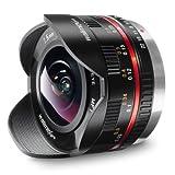 Walimex Pro 7,5 mm f1:3.5 Festbrennweite manueller Fokus Ultraweitwinkelobjektiv für MFT  Mount Kamera Objektiv für Systemkamera Panasonic GH4 GH5 GX80 G9 G81 Olympus Pen-5