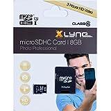 XLYNE micro-SDHC-Speicherkarte mit Adapter│8 GB Fotopro│Class 10│microSD-Karte,...