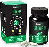 BRAINEFFECT GUARD   Probiotika aus 12 ausgewählten Bakterien-Kulturen für eine gesunde Darmflora   Schutzschild für dein Zweites Gehirn   Eisen, Calcium & Vitamin B12   60 Kapseln   vegan