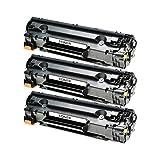 3 Toner für Canon Cartridge 725 I-Sensys LBP 6000 B Series 6020 B 6030 W MF 3010 - 3484B002 - Schwarz je 2100 Seiten