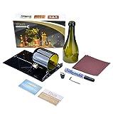 FIXM Weinflaschenschneider-Kit, FIXM Langes Glasschneidemaschinenkit für Weinflaschen Einritz und Schneidewerkzeug für Eigenbauprojekte Wiederverwenden Recyceln von Bier und Weinflaschen - Schwarz