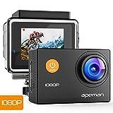 APEMAN Action Cam 1080P Full HD Unterwasser Aktion kamera wasserdicht Helmkamera 170 ° Weitwinkel...