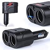 KFZ 12V/24V Auto Verteiler 2 Fach Zigarettenanzünder Adapter Ladegerät 60W für Handy Smartphone GPS Navigation - Ladesteckdosen LED