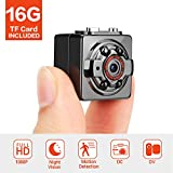 FITFORT Minikamera, FULL HD 1080P 12MP tragbare versteckte Spionage-Kamera mit Nachtsicht,...
