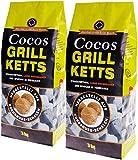 6kg Cocos Grill Briketts Premium Holzkohle Grillkohle aus Kokosnuss - ökologisch