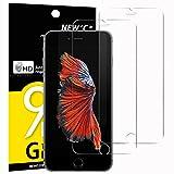 Panzerglasfolie Schutzfolie für iPhone 6s, iPhone 6, [2 Stück] NEWC Tempered Glass 9H Hartglas, Anti Öl, Kratzen und Fingerabdrücke Blasenfrei, HD Displayschutzfolie, 0.33mm HD Ultra-klar Panzerglas für iPhone 6, 6s
