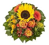 Dominik Blumen und Pflanzen, Blumenstrauß  'Sonnenlicht' mit einer Sonnenblume