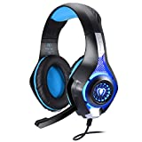 BlueFire Gaming Headset, Headset für Xbox One PS4, 3.5mm LED Licht Bass Stereo mit Mikrofon...