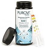 Purovi® Pooltester   Wassertest Streifen für Pool Aquarium   ph Wert Chlor Blei Nitrat Eisen   60 Streifen