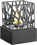Carlo Milano Tischfeuer: Tisch-Dekofeuer 'Feng Shui' mit Steingarten (Feuerstelle)