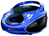 CD-Player | Tragbares Stereo Radio | Kinder Radio | Stereo Radio | Stereoanlage | USB | CD / MP3 Player | Radio | Kopfhöreranschluss | AUX IN | LCD-Display | Batterie sowie Strombetrieb | (Königsblau)