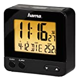 Hama Funk Wecker RC550 (sensorgesteuerte Nachtlichtfunktion, Schlummerfunktion, Temperatur- und...