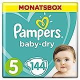 Pampers Baby Dry Windeln, für atmungsaktive Trockenheit, Gr. 5 (11-16 kg), Monatsbox, 1er Pack (1 x 144 Stück)